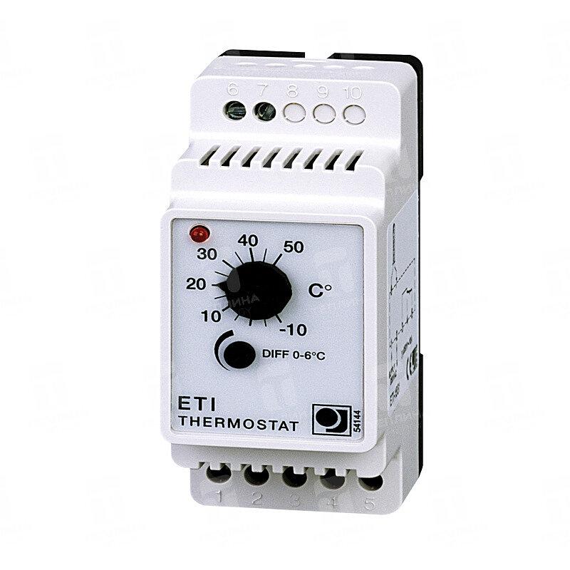 Терморегулятор ETI-1551 для регулирование обогрева водопровода, теплого пола и резервуара.